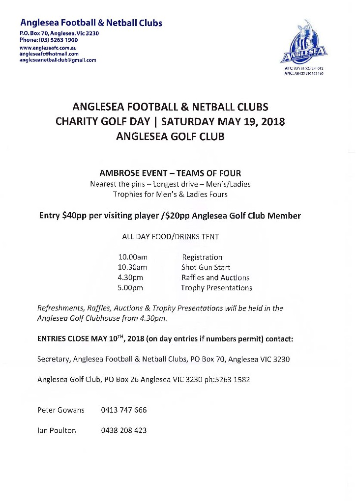 AFNC Charity Golf Day 2018